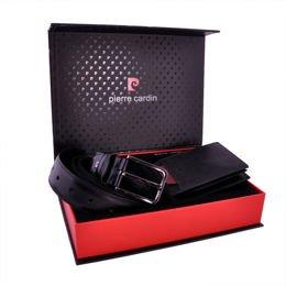 77dc4a8532be4 Zestaw prezentowy męski PIERRE CARDIN ZG-47 czarny - portfel + pasek