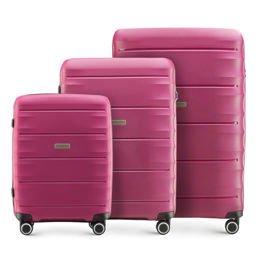 Zestaw trzech walizek WITTCHEN 56-3T-76S różowy