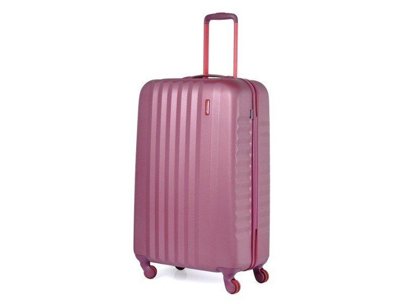 Duża walizka MARCH N0044-02-71 burgund RIBBON BICOLOR