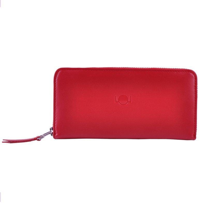 Duży portfel damski LOL czerwony- na zamek