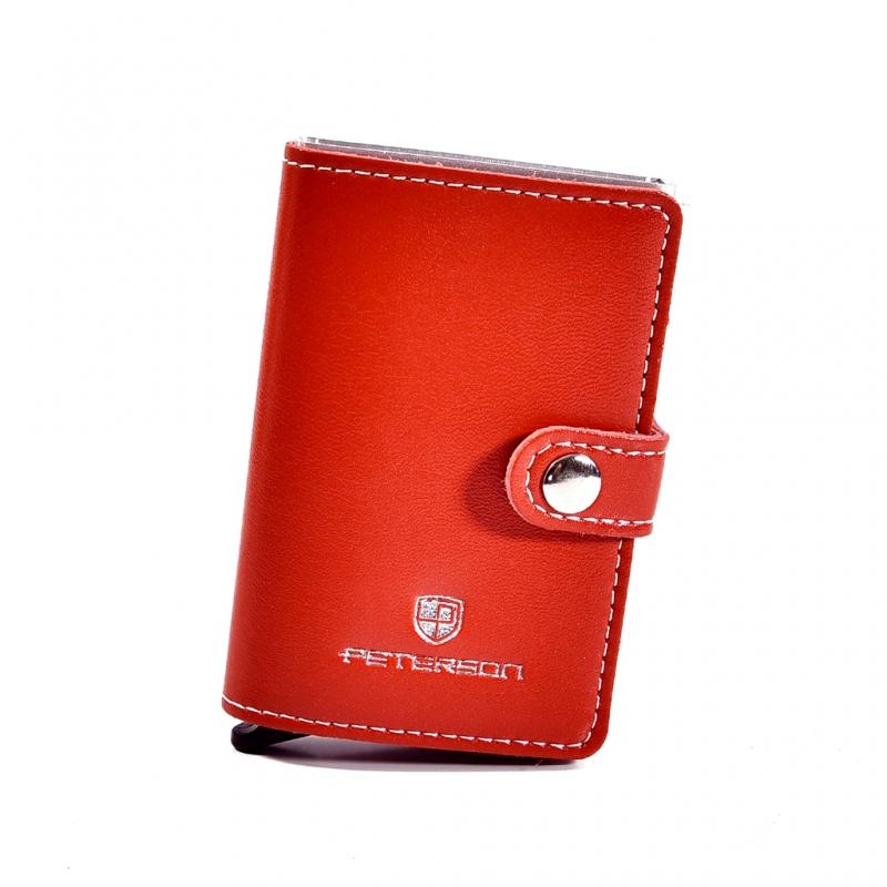 17013d5107f79 Etui na karty kredytowe i banknoty PETERSON 602 RFID czerwone ...