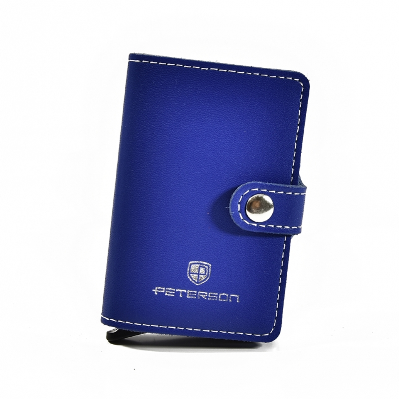Etui na karty kredytowe i banknoty PETERSON 602 RFID niebieskie