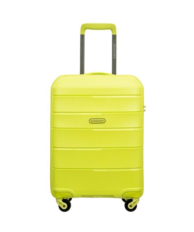 Mała walizka PUCCINI PP016 Bahamas limonka