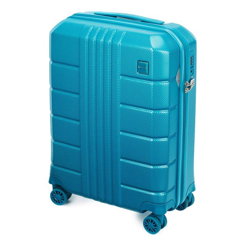 Mała walizka WITTCHEN 56-3P-821 turkusowa