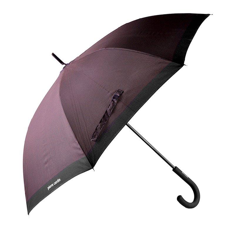 Parasol długi PIERRE CARDIN 602/4 czarno-brązowy