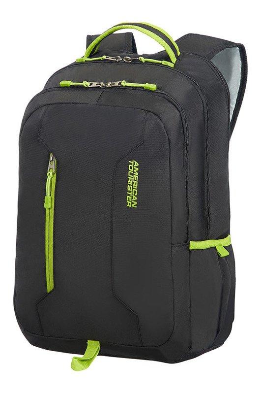0dac750e6b392 Plecak AMERICAN TOURISTER 24G Urban Groove czarny z limonkowymi zamkami  Kliknij ...