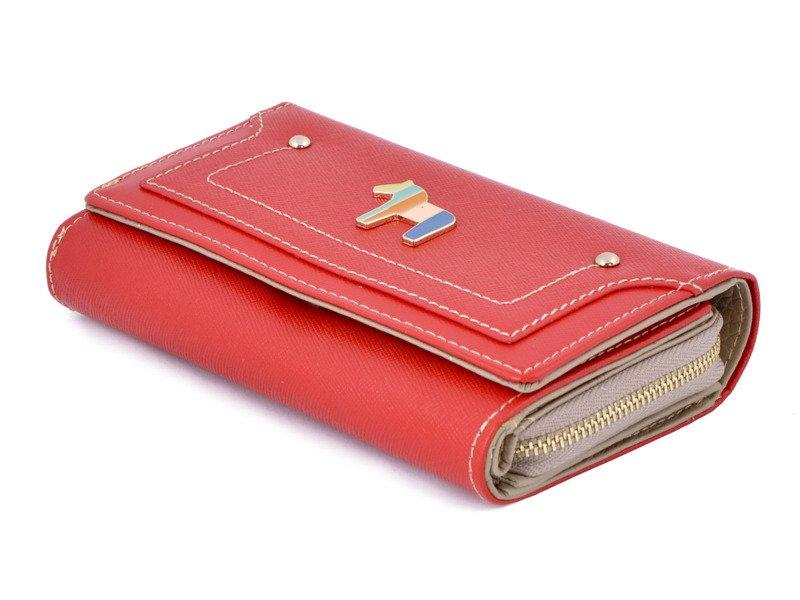 1533ef71c7d79 ... Portfel damski PETERSON 601 RED TILL czerwono-beżowy Kliknij, aby  powiększyć ...