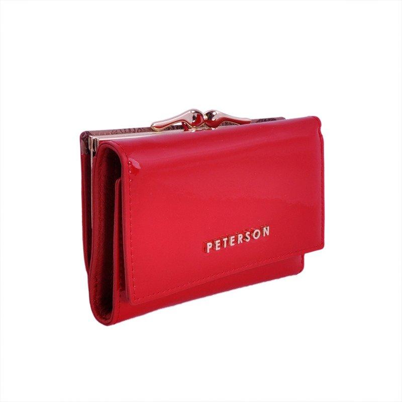 5b2c1bf6465ca Portfel damski PETERSON RFID BC-412 czerwony - Opinie