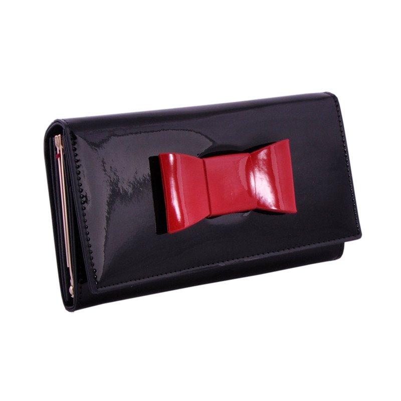 38fecd522d003 Portfel damski PETERSON RFID BC-466-2 czarny z kokardą - Opinie, Kup ...