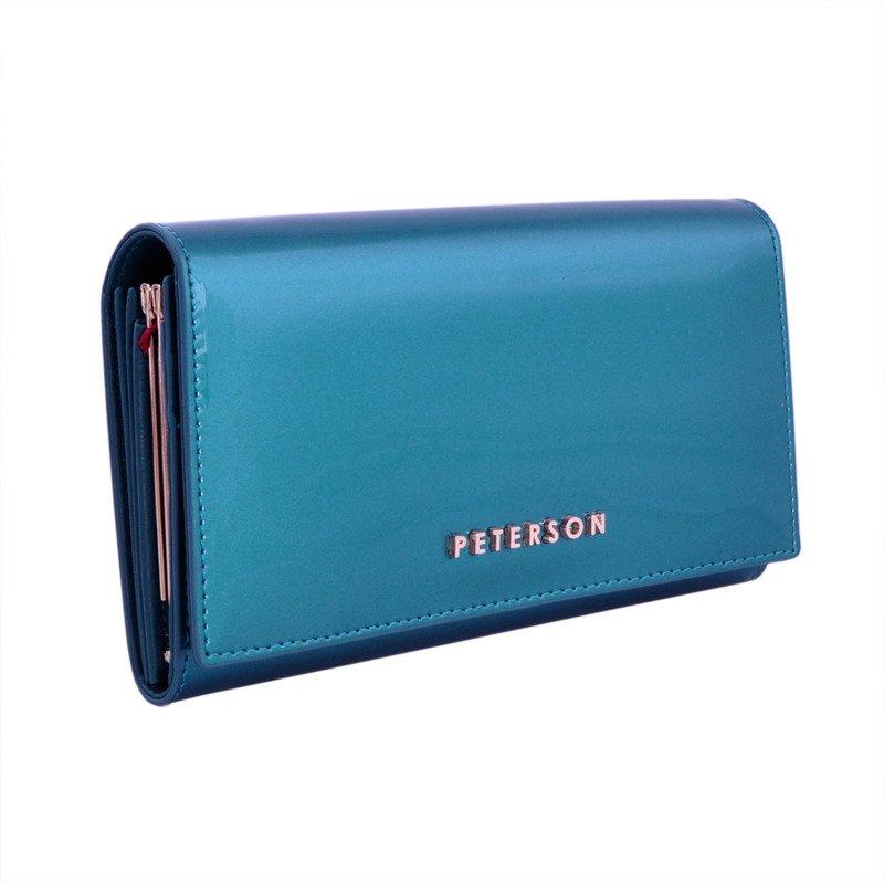 cda038d079c01 Portfel damski PETERSON RFID BC-466 turkusowy - Opinie