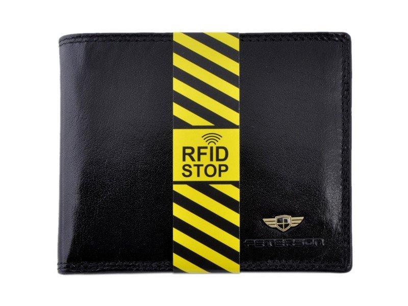 151c8a21a7142 Portfel męski PETERSON 347-RFID-2-1-1-Z czarny - Opinie