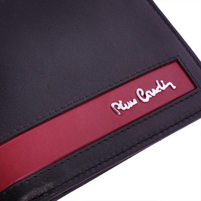 Portfel męski PIERRE CARDIN CB TILAK26 8805 RFID czarny z czerwonym paskiem