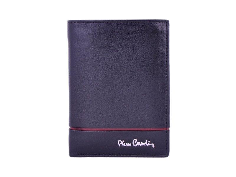 c2d68edacfd4a Portfel męski PIERRE CARDIN SAHARA TILAK 326 RFID czarny z czerwonym paskiem