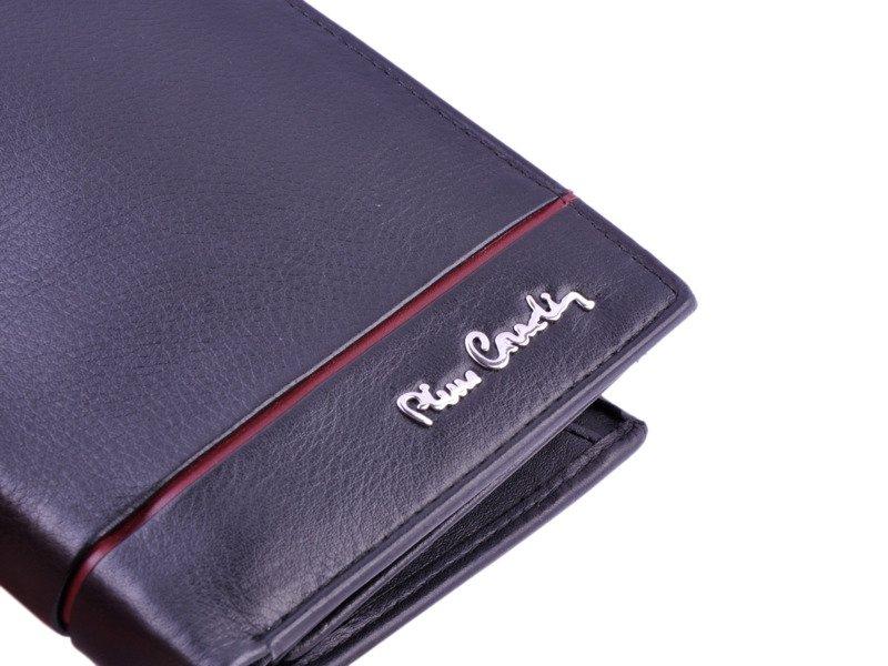 7ed14a0cc7dc Portfel męski PIERRE CARDIN SAHARA TILAK 326 RFID czarny z czerwonym ...