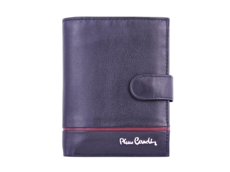 79af65f22513a Portfel męski PIERRE CARDIN SAHARA TILAK 326A RFID czarny z czerwonym  paskiem