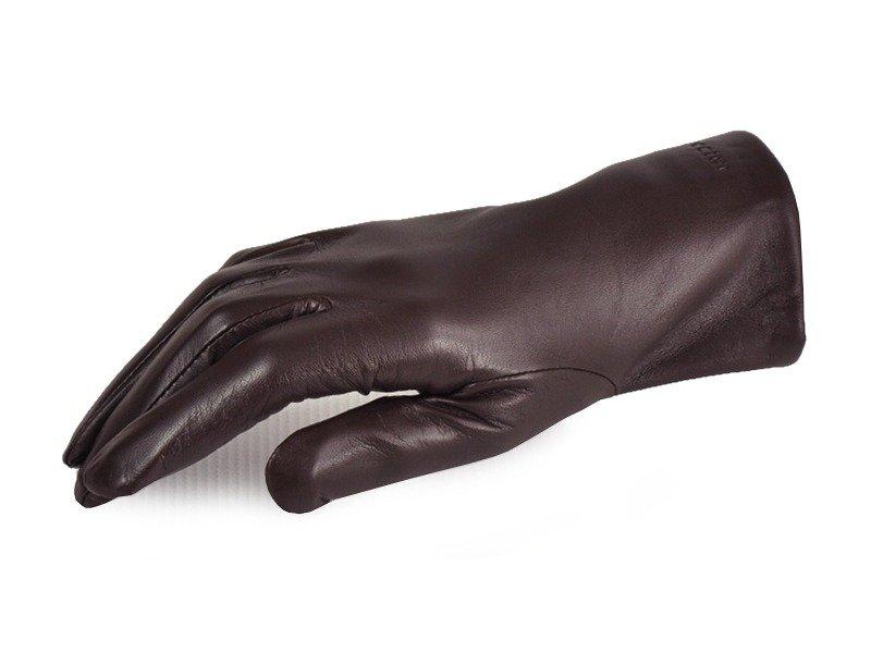 Rękawiczki damskie PUCCINI D-1001 ciemny brąz