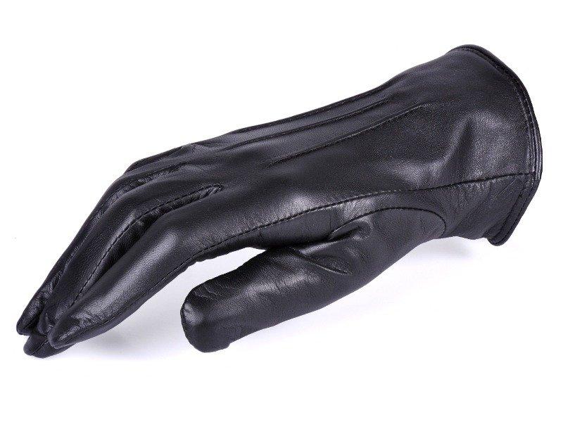 Rękawiczki damskie PUCCINI D-1586 1 czarne z cyrkonią