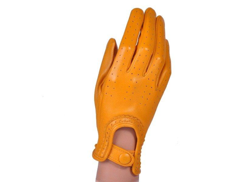 d028e6ccaa09c2 Rękawiczki damskie samochodowe - PUCCINI D-1511 żółte całuski kropeczki