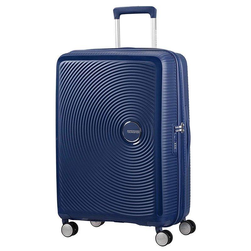 Średnia walizka AMERICAN TOURISTER 32G SOUNDBOX granatowa