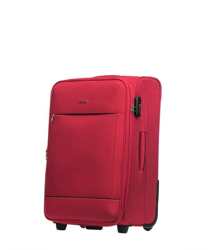 Średnia walizka PUCCINI EM-50408 Verona czerwona