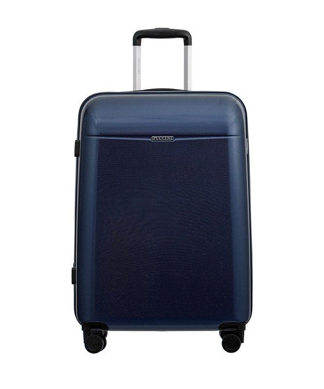 Średnia walizka PUCCINI PC005 New Voyager granatowa