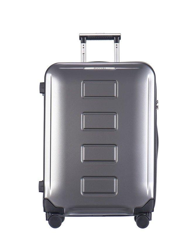 acc2779cd683d ... Średnia walizka PUCCINI PC022 Vancouver szara Kliknij, aby powiększyć  ...