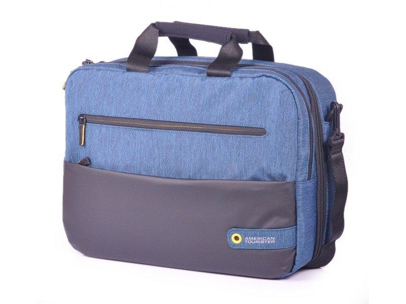 cfb5add2a8100 Torba/Plecak na laptopa AMERICAN TOURISTER 28G City Drift niebiesko-czarna