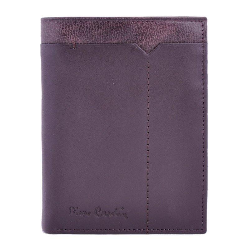 17d0792c87045 Zestaw prezentowy męski PIERRE CARDIN ZG-36 ciemny brąz - portfel + ...