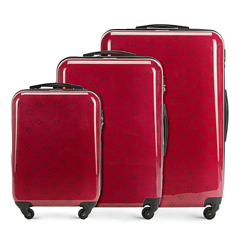 Zestaw trzech walizek WITTCHEN 56-3A-33S czerwony