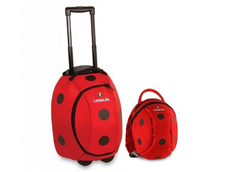 Zestaw: walizka + plecaczek LITTLE LIFE biedronka